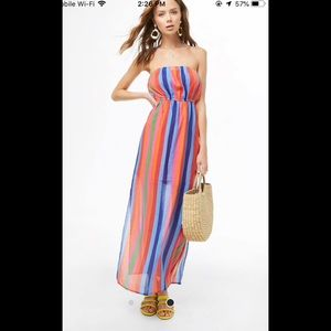 NWT Forever 21 multi striped Maxi dress  large